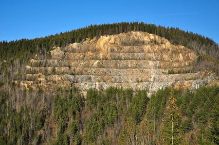 stratigraphy: Open cast mine