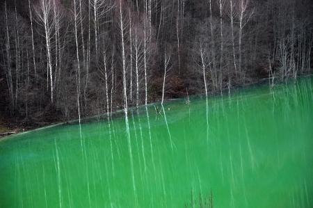 contaminated: Contaminated lake water  Geamana, Rosia Montana, Romania