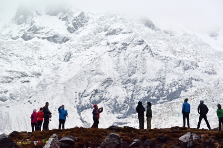 expeditions: ANNAPURNA - OCT 3  Annapurna climbing expeditions forced to stay in the ABC, without any possibilities to reach the summit, due to bad weather  On Oct 8, 2013 in Annapurna Base Camp, Himalayas, Nepal