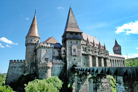 The Corvin castle in Transylvania, Romania