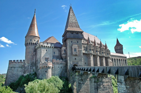 The Corvin castle in Transylvania, Romania