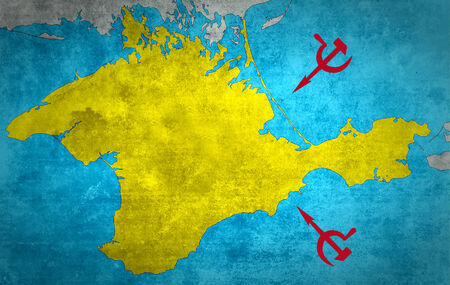 anti nato: The map of Crimea with the Russian expansion and occupation
