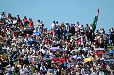pfingsten: Cs�ksomly�, Rum�nien - 29. Mai Massen der ungarischen Pilger versammeln, um den Pentecost und die katholische Pilgerfahrttradition, 29. Mai 2004 in Sumuleu Ciuc Csiksomlyo, Rum�nien feiern
