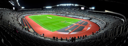 CLUJ NAPOCA, ROMANIA - OCTOBER 1  Grand opening of Cluj Arena the largest soccer stadium in Transylvania  The UEFA Elite 31,000 seat stadium was open on October 1, 2011 in Cluj N, Romania