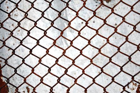 hydroxide: Rusty grid lattice structure Stock Photo