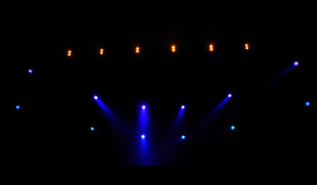 Stage lights during a live concert photo