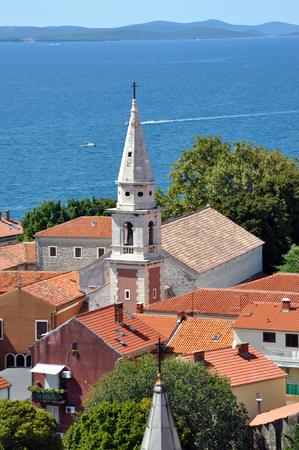 starigrad: Aerial view of Zadar from a church tower, Croatia