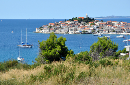 starigrad: Primosten, a small medieval city near the Mediterranean sea in Croatia