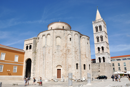 starigrad: ZADAR, CROATIA - AUGUST 25: Unidentified tourists visiting the Stari Grad (Old Town) of the Unesco heritage city of Zadar. On 25 August, in Zadar, Croatia