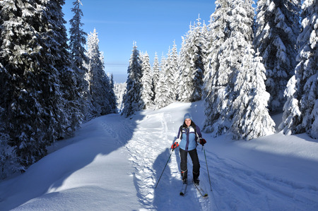 Back country skier (ski touring) photo