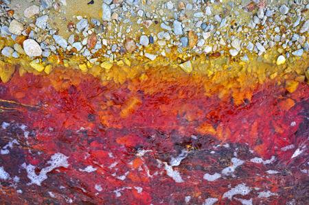 Industrial mining waste water photo