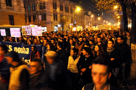 presidency: Romanians protest against Victor Ponta because Romanians abroad were stopped from voting by the Socialist Government. On Nov 8, 2014 in Cluj, Romania