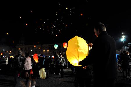 napoca: CLUJ NAPOCA, ROMANIA - NOVEMBER 8: Romanians celebrate King Michael\