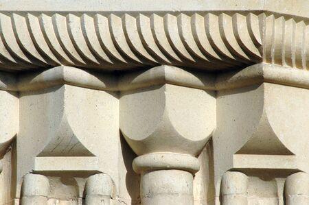 romanesque: Romanesque style details. Cisnadioara (Kisdisznod, Michelsberg), Transylvania, Romania Stock Photo