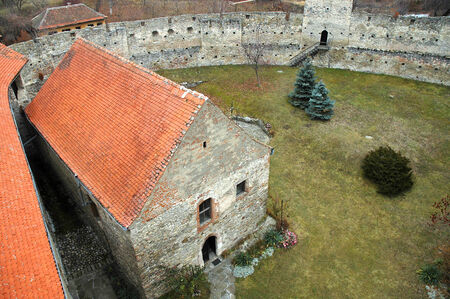 transylvania: Abandoned medieval fortress of Calnic in Transylvania, Romania Editorial