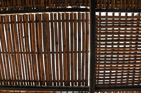 penal institution: Bamboo cage, jail in Vietnam for American prisoners Stock Photo