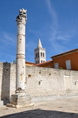 roman column: Roman column in the ancient city of Zadar, Croatia