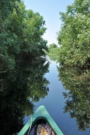 danubian: Canoeing in the Danube delta, Romania Stock Photo