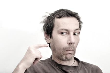 şişme: Diş ağrısı muzdarip Genç adam, diş ağrısı, şişlik yüz Stok Fotoğraf