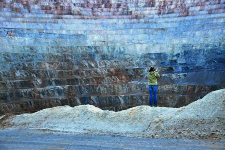 gold mine: Open pit gold mine in Rosia Montana, Romania