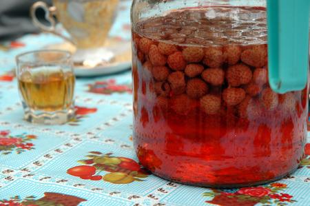 liqueur: Home made strawberry liqueur