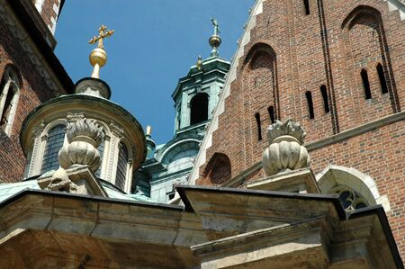 architectural details: Architectural details on Wawel cathedral in Krakow Poland