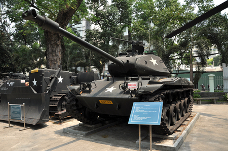 patton: HO CHI MINH  MARCH 7: US tank used in the Vietnamese War exposed in the War Remnants Museum in Saigon. On March 7 2013 in Saigon Vietnam
