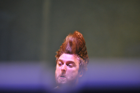 headbanging: BONTIDA - JUNE 28, 2015: The Subways band from Great Britain performing live at the main stage of the Electric Castle Festival at June 28, 2015 in the Banffy castle in Bontida, Romania Image ID: 294126989