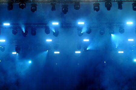 concert: BONTIDA, ROMANIA - JUNE 28, 2015: Stage lights during a live concert at Electric Castle festival