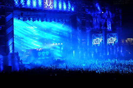 kolozsvar: CLUJ NAPOCA, ROMANIA  JULY 30, 2015: Dj ATB Andre Tanneberger performs a live concert at the Untold Festival in the European Youth Capital city of Cluj Napoca