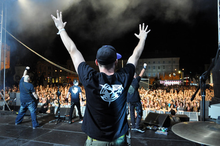 hard rock: CLUJ NAPOCA, ROMANIA - AUGUST 2, 2015: Hard rock band Altar from Romania, performs a live concert at the Untold Festival