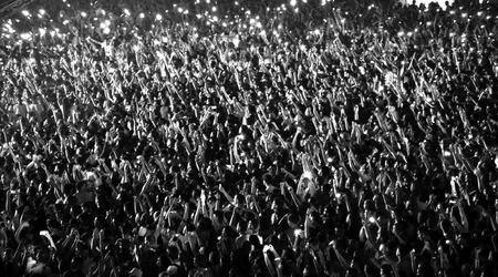 Wazig menigte tijdens een concert