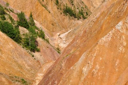 erosion: Deep ravine, erosion landscape