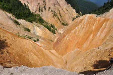 ravine: Deep ravine, erosion landscape