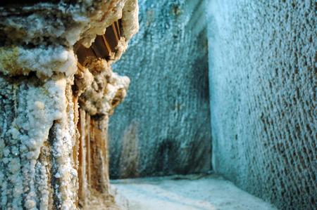 turda: Underground gallery in a salt mine
