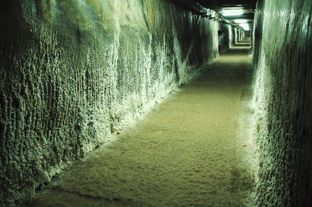 saltmine: Underground gallery in a salt mine