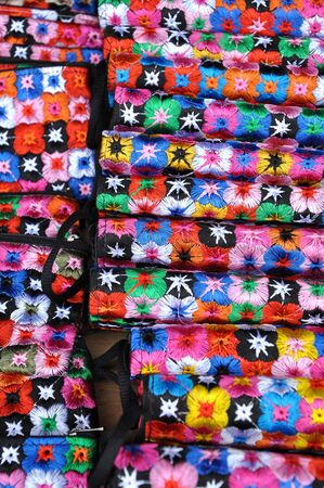 batik pattern: Pattern of Vietnamese silk scarf Stock Photo