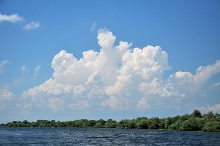 Lake in Danube delta, Romania Stock Photo