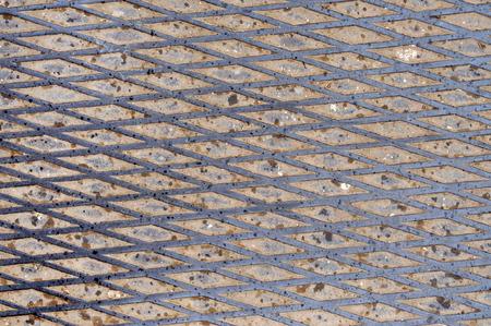 nonslip: Non-slip steel grating step background. Grunge steel background