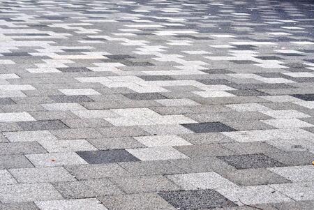 tiled: Tiled mosaic concrete pavement