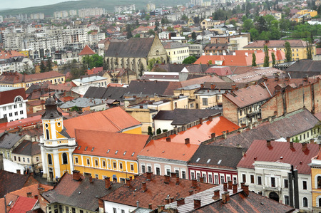 CLUJ-NAPOCA, ROMANIA - MAY 1, 2011: The medieval city of Cluj Napoca is home of music festivals and sport events and is visited every year by crowd of tourists Editorial