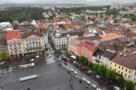 kolozsvar: CLUJ-NAPOCA, ROMANIA - MAY 1, 2011: The medieval city of Cluj Napoca is home of music festivals and sport events and is visited every year by crowd of tourists Editorial