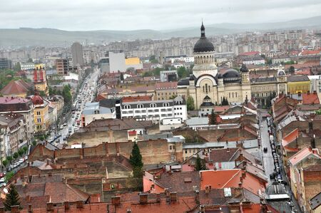 cluj: CLUJ-NAPOCA, ROMANIA - MAY 1, 2011: The medieval city of Cluj Napoca is home of music festivals and sport events and is visited every year by crowd of tourists Editorial
