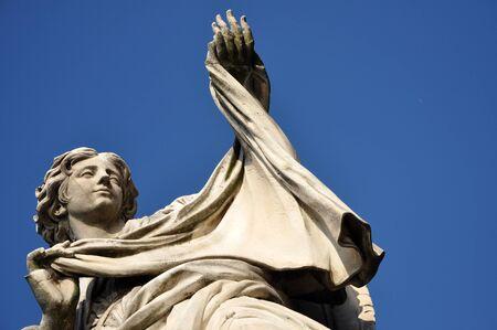 animal angelic: Angel with the Veil statue on the Ponte Sant Angelo bridge, Rome