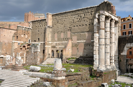 augustus: Archeological excavations of the Imperial forum of Emperor Augustus. Rome, Italy