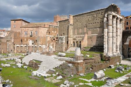 augustus: Imperial forum of Emperor Augustus. Rome, Italy