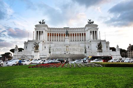 altar of fatherland: ROME, ITALY - MARCH 16, 2016: Tourists visiting the Altar of the Fatherland (Altare della Patria) known as the Monumento Nazionale a Vittorio Emanuele II or Il Vittoriano in Piazza Venezia, Rome, Italy