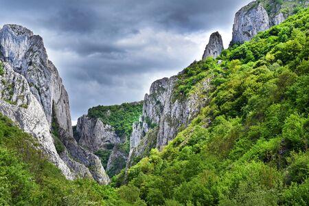 turda: Landscape of a gorge. Cheile Turzii, Romania Stock Photo