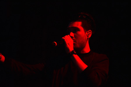 bastille: BONTIDA, ROMANIA - JULY 17, 2016: Singer Dan Smith of English band Bastille singing during a live performance at Electric Castle festival
