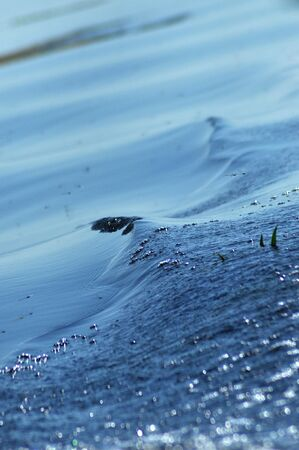 freshening: Water ripples and waves on a lake